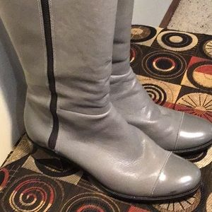 "Cole Haan tall Leather boots size 11B with 2"" heel"